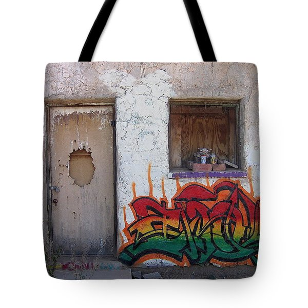 Tote Bag featuring the photograph Hangman's House Homage Pima Indian Shrine Sacaton Az 2005-2009 by David Lee Guss
