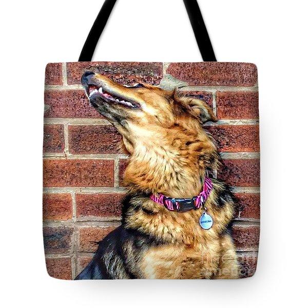 Hannah #gsd #germanshepherd Tote Bag