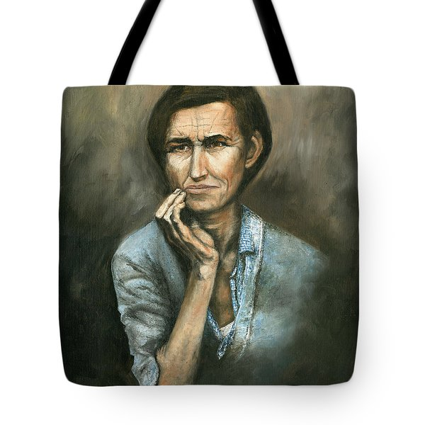 Tote Bag featuring the painting Hannah -timeless Beauty by Mary Ellen Anderson