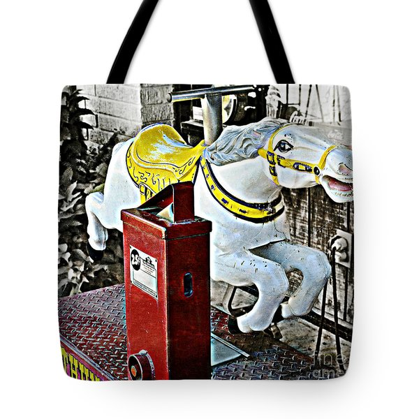 Hannibal Mechanical Riding Horse Tote Bag