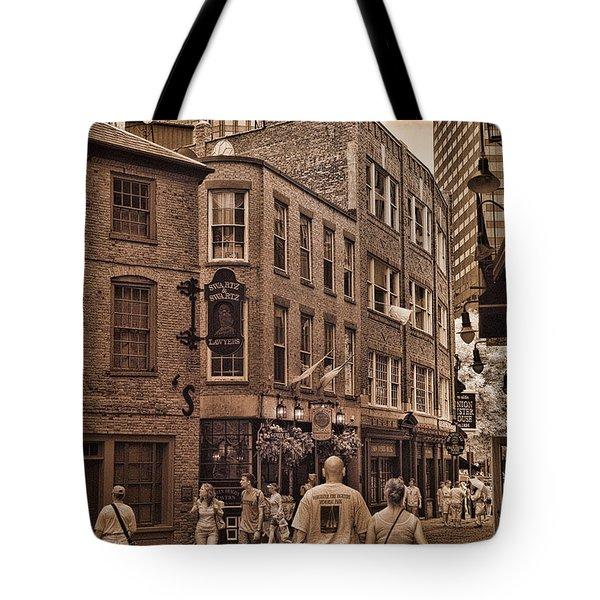 Hanover St. Tote Bag by Joann Vitali