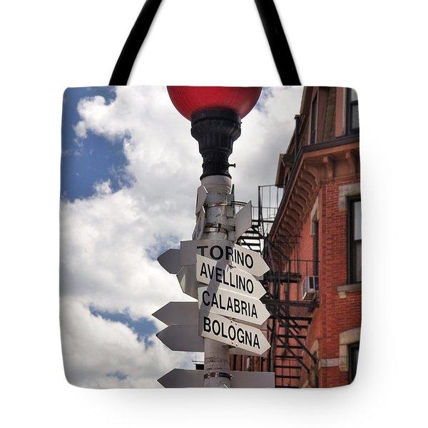 Hanover Street Boston North End Tote Bag by Joann Vitali