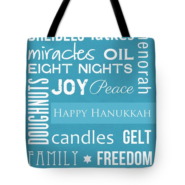 Hanukkah Fun Tote Bag by Linda Woods