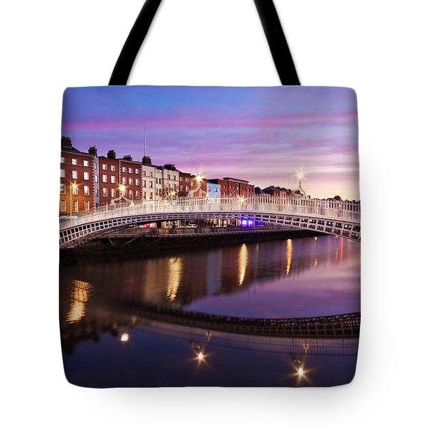 Hapenny Bridge At Dawn - Dublin Tote Bag
