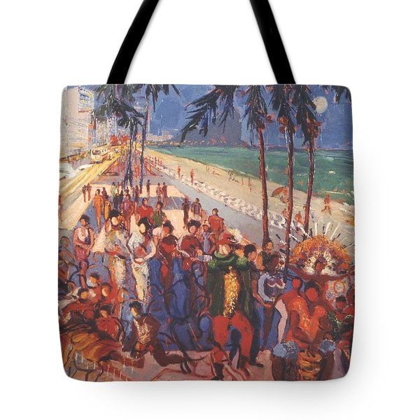Tote Bag featuring the painting Happening by Walter Casaravilla