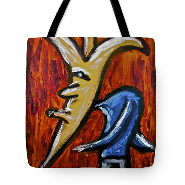 Tote Bag featuring the painting Happiness 12-001 by Mario Perron