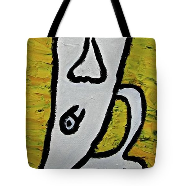 Tote Bag featuring the painting Happiness 12-003 by Mario Perron