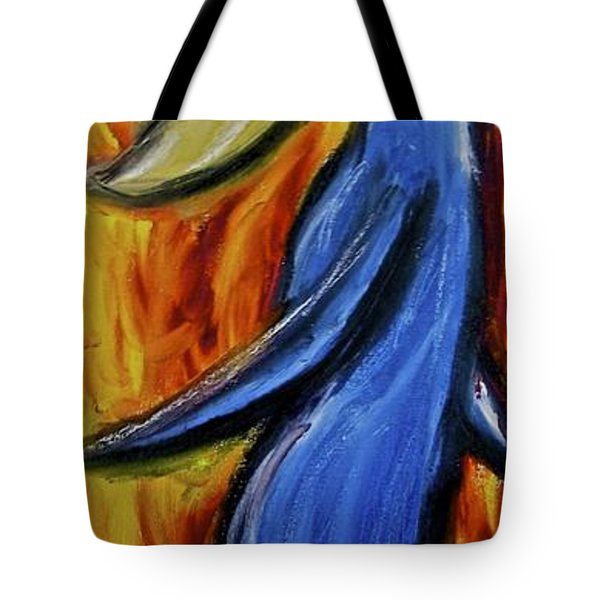 Tote Bag featuring the painting Happiness 12-005 by Mario Perron