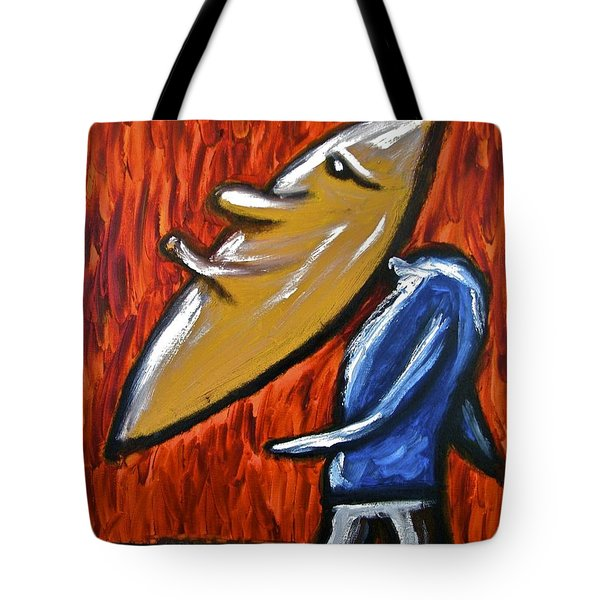 Tote Bag featuring the painting Happiness 12-006 by Mario Perron