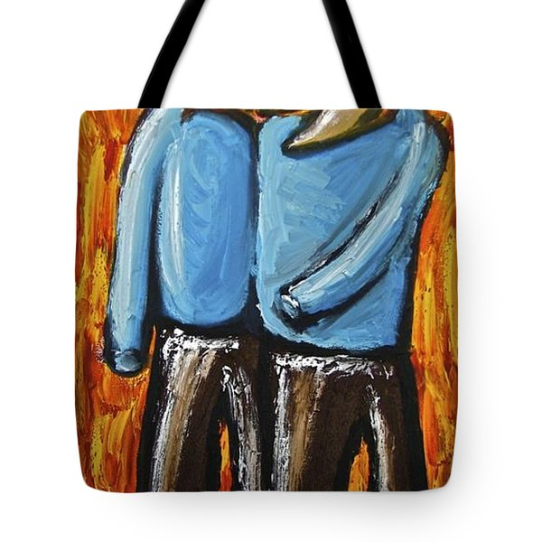 Tote Bag featuring the painting Happiness 12-008 by Mario Perron