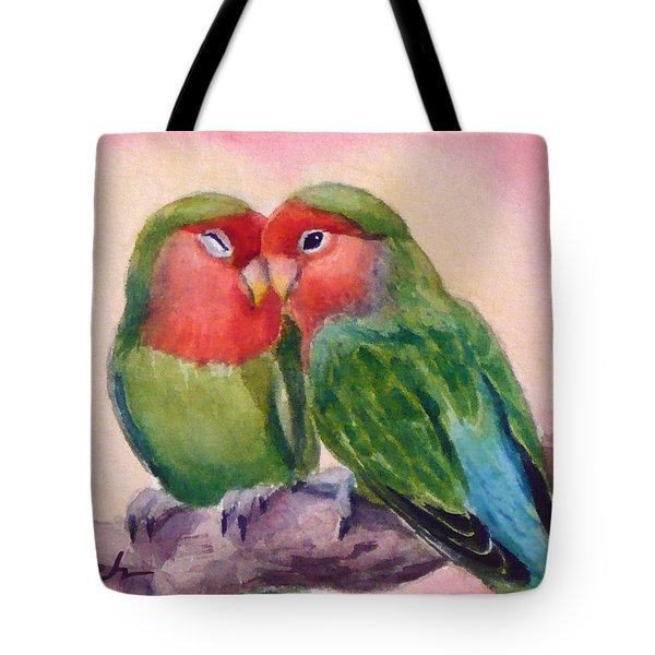 Happiness Forever Lovebirds Tote Bag