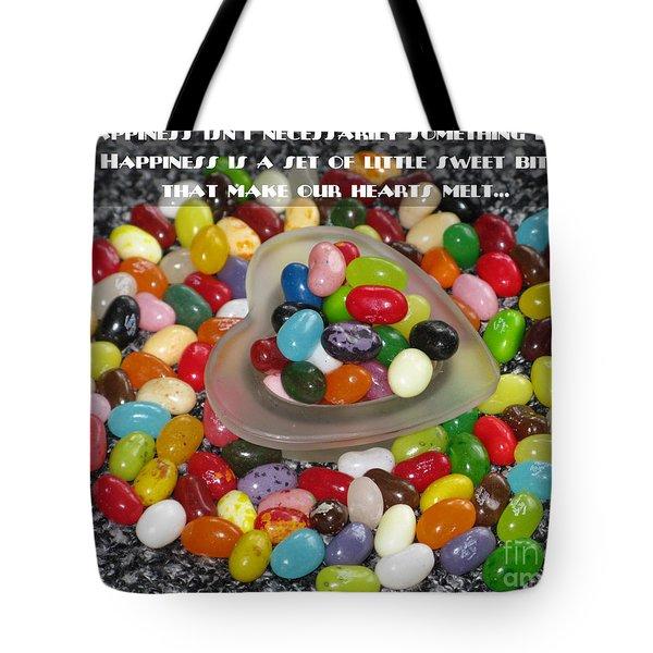 Happiness Is Made Of Tiny Bits Tote Bag by Ausra Huntington nee Paulauskaite