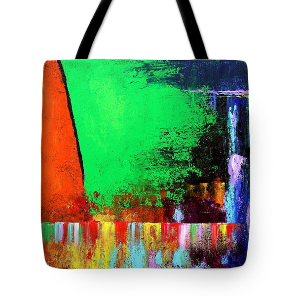 Tote Bag featuring the painting Happiness by Kume Bryant