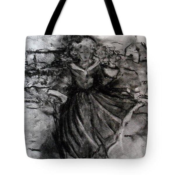 Tote Bag featuring the drawing Happiness by Laurie L