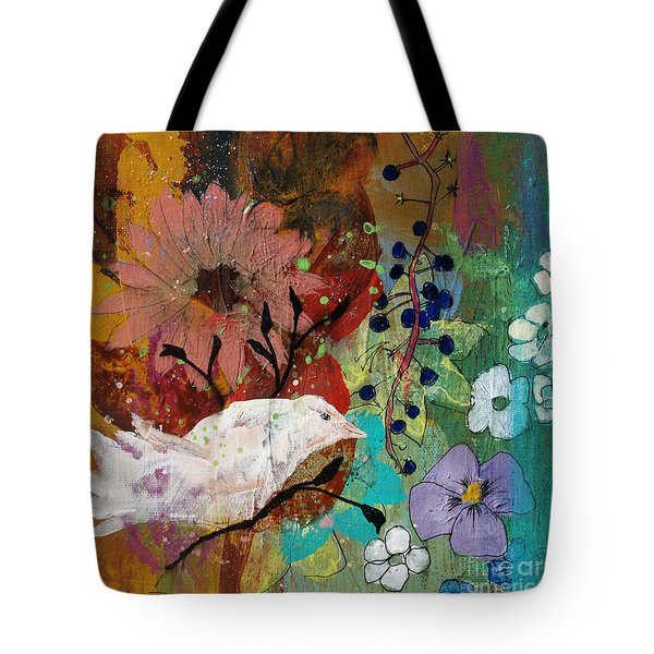 Tote Bag featuring the painting Happiness by Robin Maria Pedrero