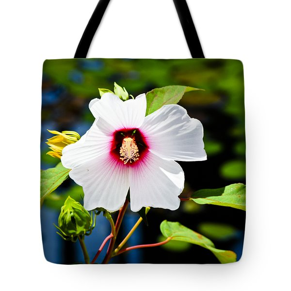 Happiness Shared Is The Flower Tote Bag by Christi Kraft