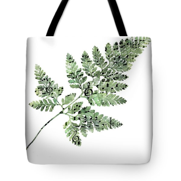Tote Bag featuring the photograph Happy Adventure Music Fern by Sandra Foster