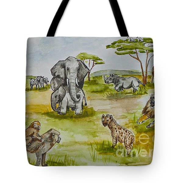 Happy Africa Tote Bag