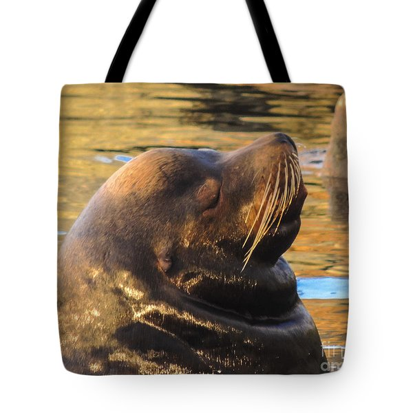 Happy And Content Tote Bag