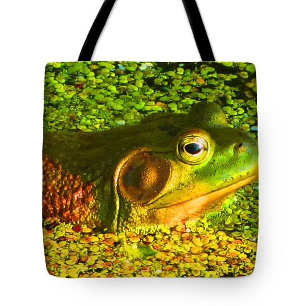 Happy As A Frog In A Pond Tote Bag