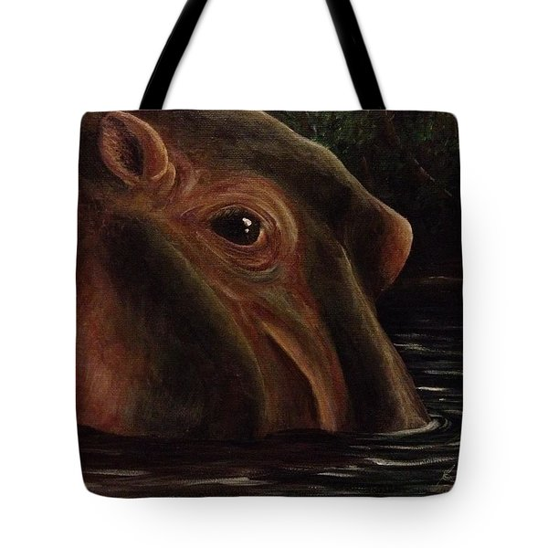 Happy As A Hippo Tote Bag by K Simmons Luna