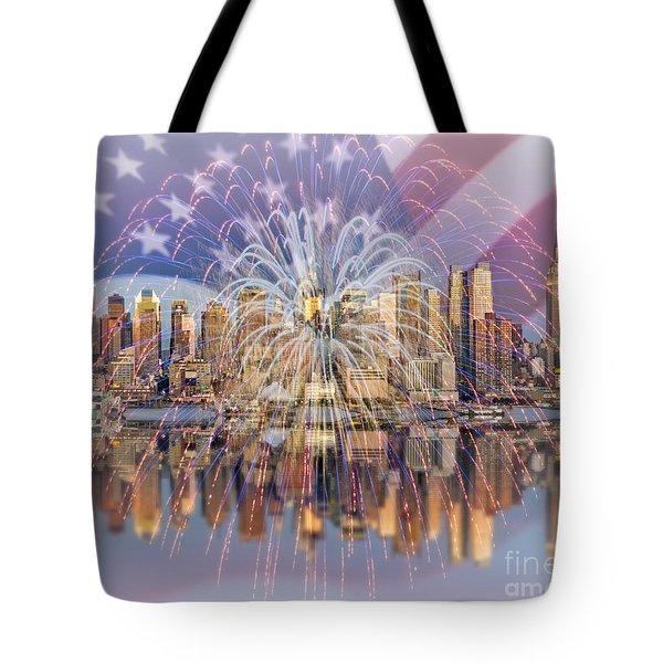 Happy Birthday America Tote Bag by Susan Candelario