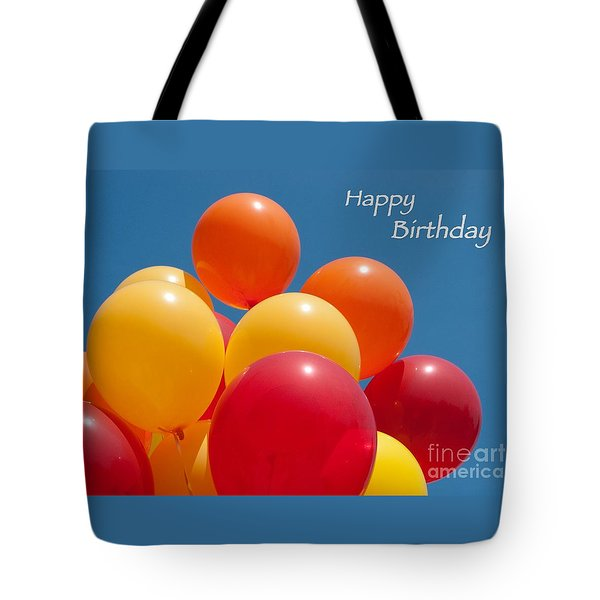 Happy Birthday Balloons Tote Bag by Ann Horn