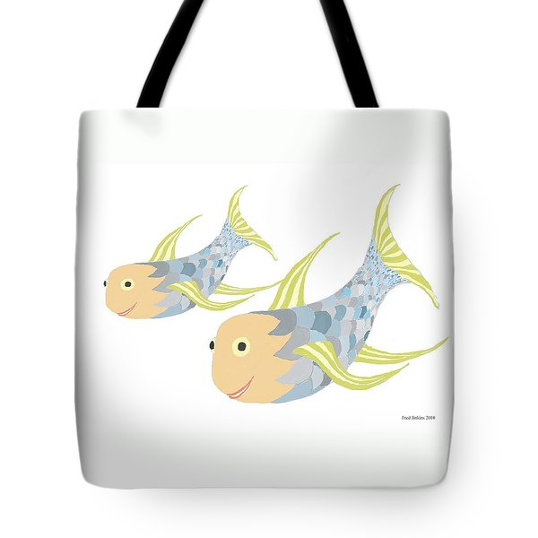 Happy Blue Fish Tote Bag