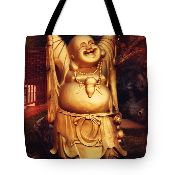 Happy Buddha Tote Bag by Angela Wright