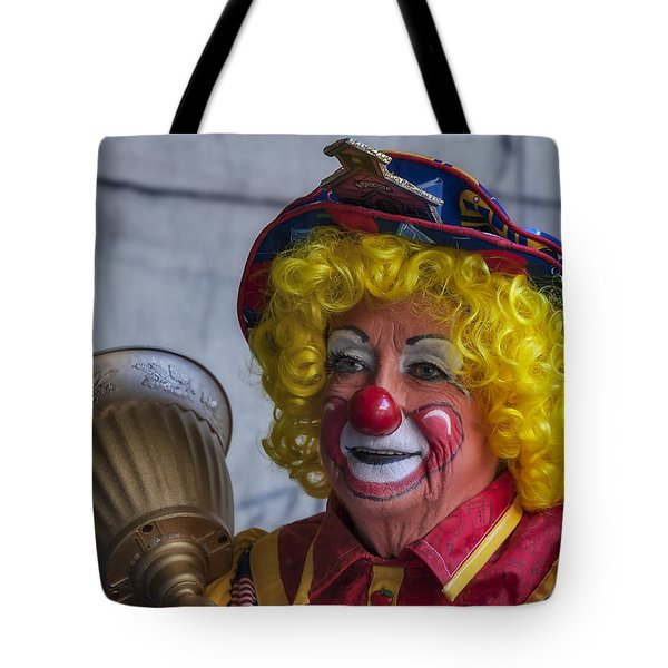 Happy Clown Tote Bag by Susan Candelario