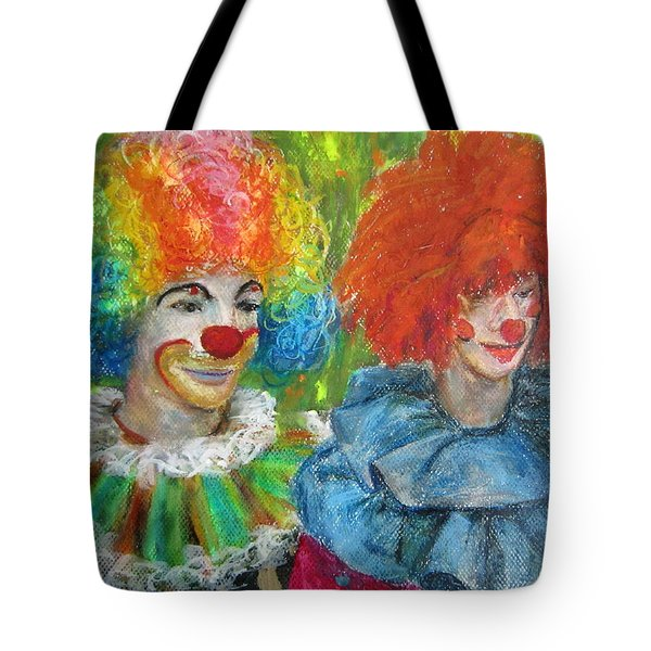 Gemini Clowns Tote Bag