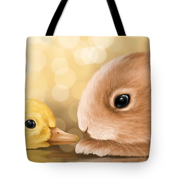 Happy Easter 2014 Tote Bag by Veronica Minozzi