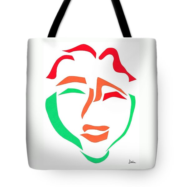 Happy Face Tote Bag by Delin Colon