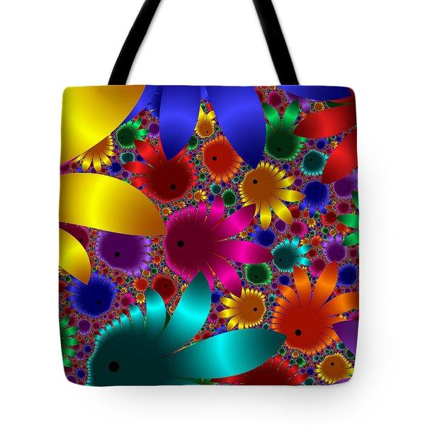 Happy Flowers Tote Bag by Svetlana Nikolova