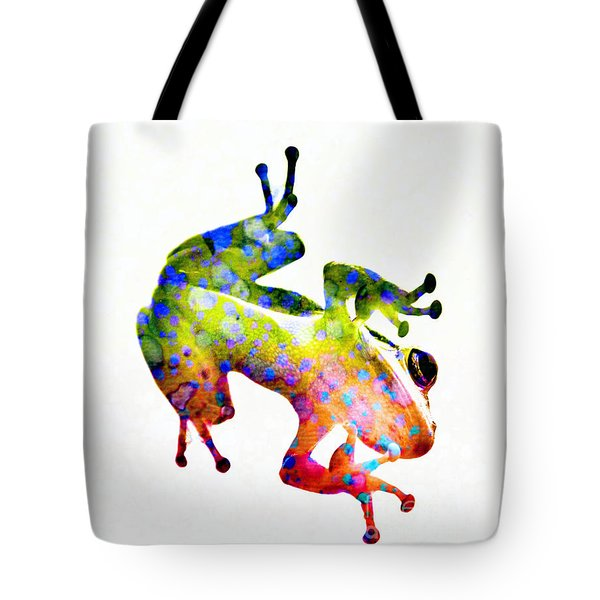 Happy Frog Tote Bag by Darla Wood