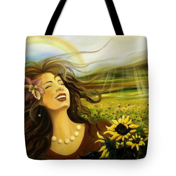 Happy Tote Bag by Gina De Gorna