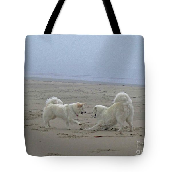 Tote Bag featuring the photograph Happy Girls Beach Side by Fiona Kennard
