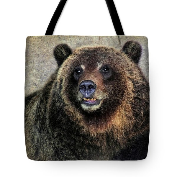 Happy Grizzly Bear Tote Bag