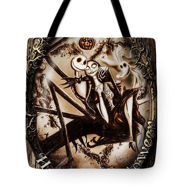 Happy Halloween IIi Sepia Version Tote Bag