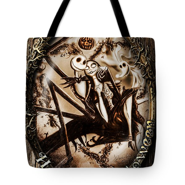 Happy Halloween IIi Sepia Version Tote Bag