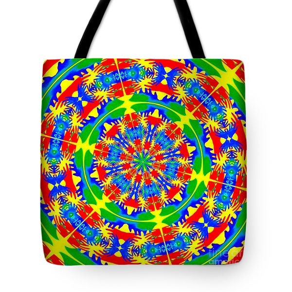 Tote Bag featuring the photograph Happy Hands Mandala by Linda Weinstock