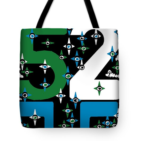 Tote Bag featuring the digital art Be A Happy Fifty-two Years In The Makings  by Mudiama Kammoh