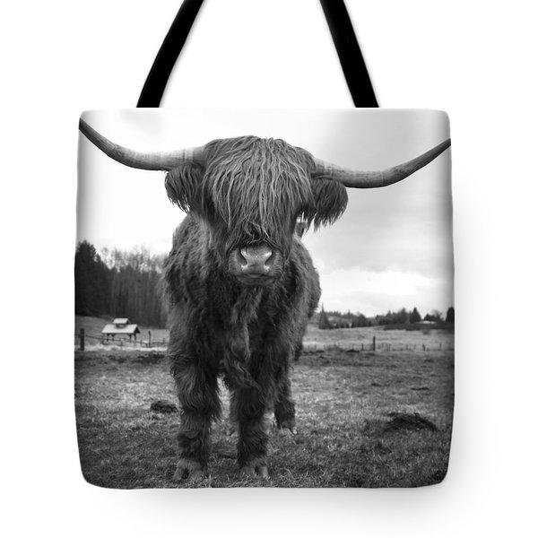 Happy Highland Cow Tote Bag by Sonya Lang