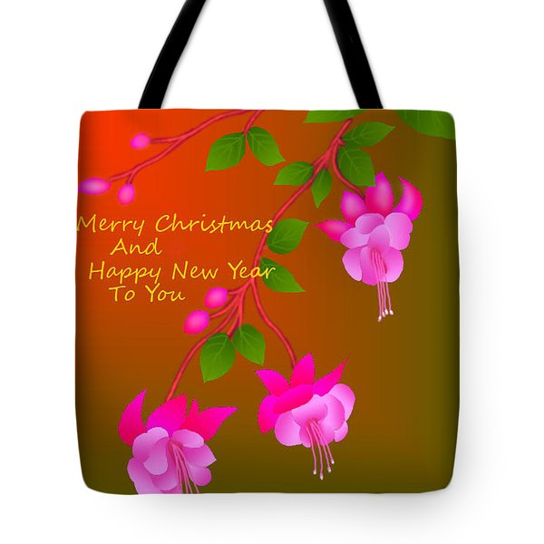 Tote Bag featuring the digital art Happy Holidays by Latha Gokuldas Panicker
