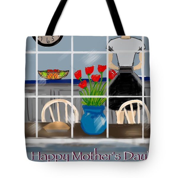 Tote Bag featuring the digital art Happy Homemaker by Christine Fournier