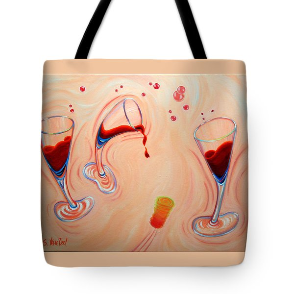 Tote Bag featuring the painting Happy Hour by Sandi Whetzel