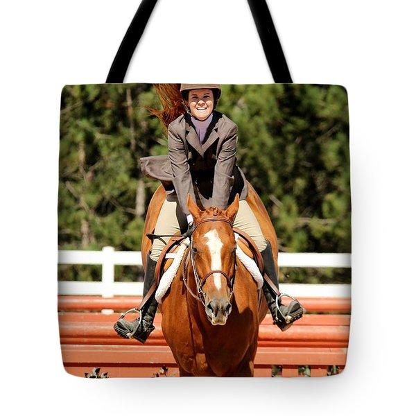 Happy Hunter Horse Tote Bag
