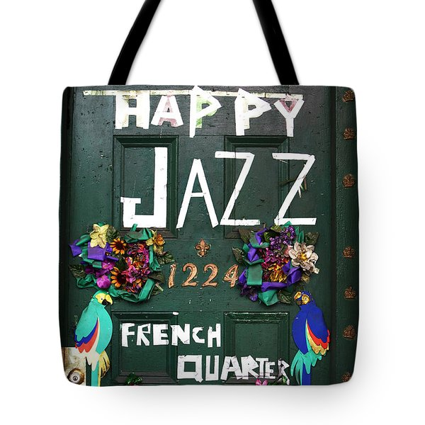 Happy Jazz Tote Bag by John Rizzuto