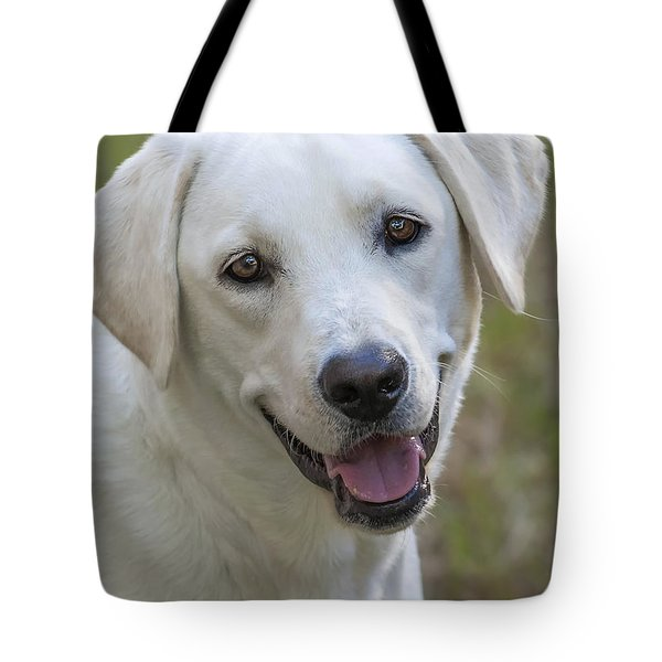 Happy Lab Tote Bag by Stephen Anderson