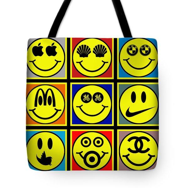 Happy Logos Tote Bag by Tony Rubino